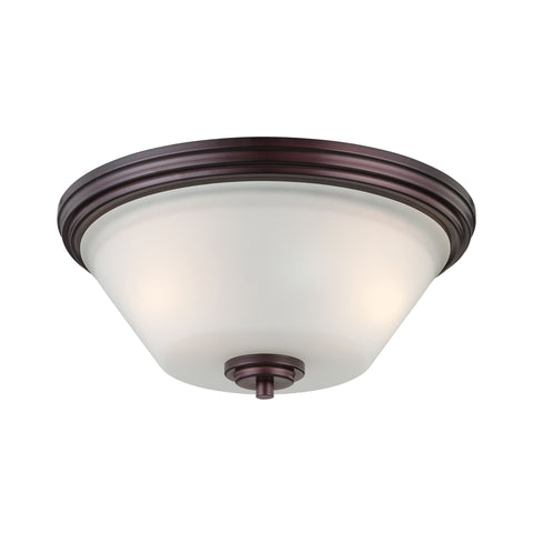 Thomas Lighting 190071719 Pittman Collection Sienna Bronze Finish Transitional Flush