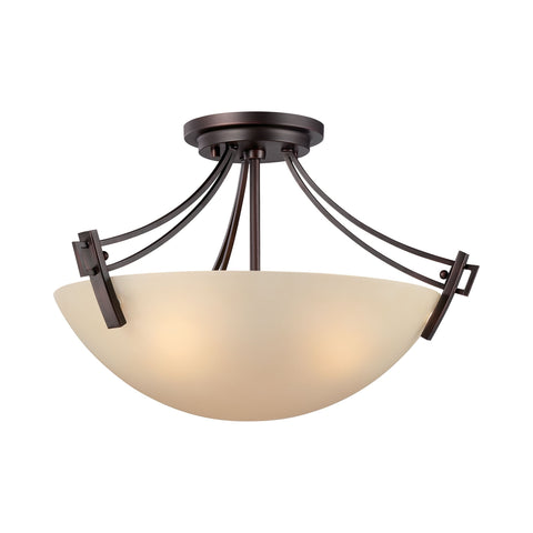 Thomas Lighting 190113704 Wright Collection Espresso Finish Traditional Flush