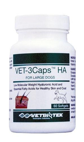 VetBioTek 19111 Vet3Caps HA For Large Dogs >60 lbs, 60 Softgels GREEN - Peazz.com