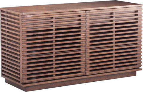 Zuo Modern 199051 Linea Credenza Color Walnut MDF Finish - Peazz.com - 1