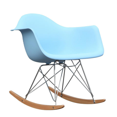 Fine Mod Imports FMI2013-lightblue Rocker Arm Chair, Light Blue - Peazz.com - 1