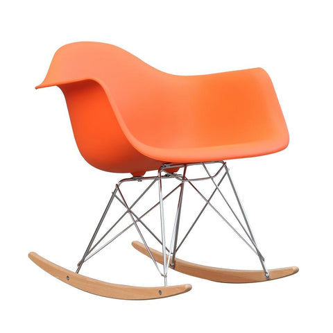 Fine Mod Imports FMI2013-orange Rocker Arm Chair, Orange - Peazz.com - 1