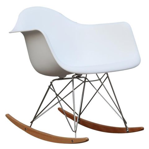 Fine Mod Imports FMI2013-white Rocker Arm Chair, White - Peazz.com - 1