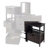 Winsome Wood 20216 Omaha Storage Rack with 2 Foldable Baskets - Peazz.com - 2