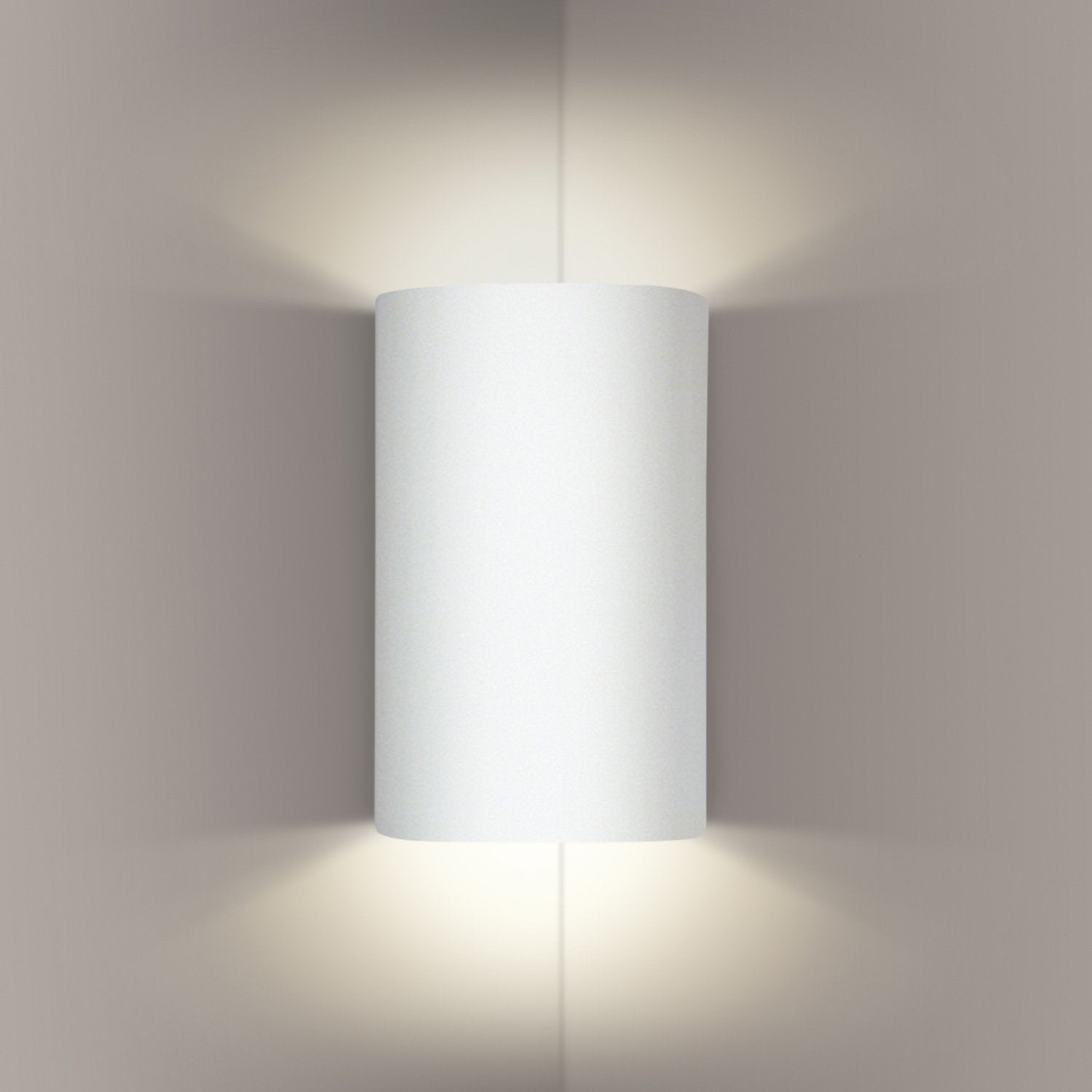 A19 203CNR-LEDGU24-MW Islands of Light Collection Tenos Matte White Finish Corner Wall Sconce