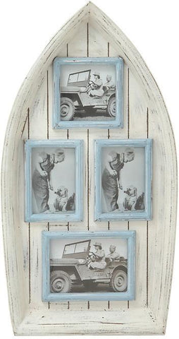 "Bayden Hill Wd Boat Wall Photo Frame 15""W, 28""H - Peazz.com"