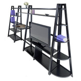 Winsome Wood 20470 Adam 4-pc Set Work and Fun Set, Writing Desk, Corner Shelf and TV Stand - Peazz.com - 2