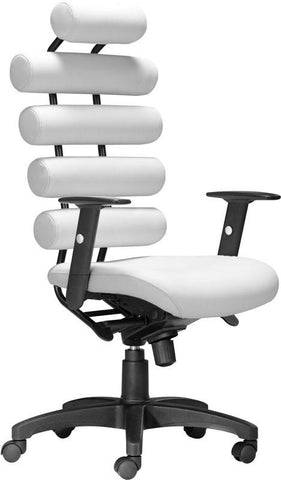 Zuo Modern 205051 Unico Office Chair Color White Painted Metal Finish - Peazz.com - 1