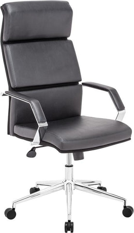 Zuo Modern 205310 Lider Pro Office Chair Color Black Chromed Steel Finish - Peazz.com - 1