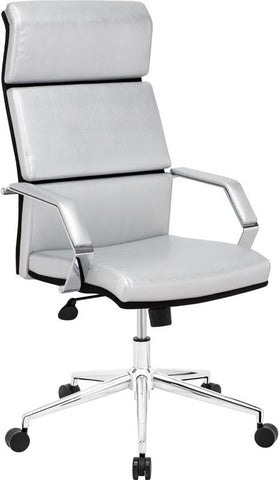 Zuo Modern 205312 Lider Pro Office Chair Color Silver Chromed Steel Finish - Peazz.com - 1