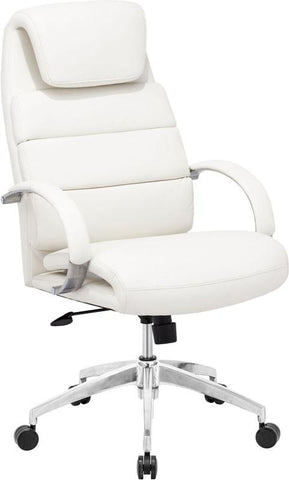 Zuo Modern 205316 Lider Comfort Office Chair Color White Polished Aluminum Finish - Peazz.com - 1