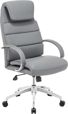Zuo Modern 205317 Lider Comfort Office Chair Color Gray Polished Aluminum Finish - Peazz.com - 1
