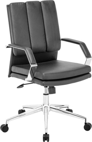 Zuo Modern 205324 Director Pro Office Chair Color Black Chromed Steel Finish - Peazz.com - 1