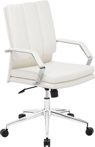 Zuo Modern 205325 Director Pro Office Chair Color White Chromed Steel Finish - Peazz.com - 1