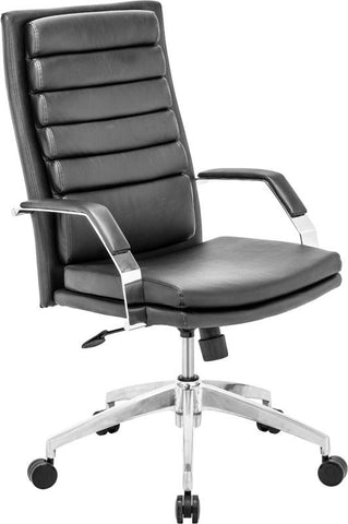 Zuo Modern 205326 Director Comfort Office Chair Color Black Chromed Steel Finish - Peazz.com - 1