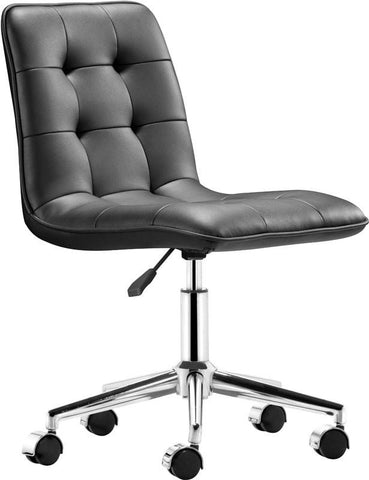 Zuo Modern 205770 Scout Office Chair Color Black Chromed Steel Finish - Peazz.com - 1