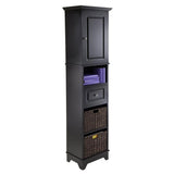 Winsome Wood 20618 Wyatt Tall Cabinet with Baskets, Drawer, Door - Peazz.com - 2