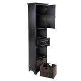 Winsome Wood 20618 Wyatt Tall Cabinet with Baskets, Drawer, Door - Peazz.com - 4