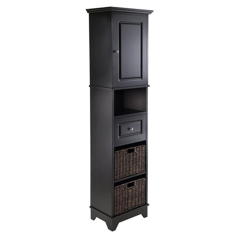Winsome Wood 20618 Wyatt Tall Cabinet with Baskets, Drawer, Door - Peazz.com - 1