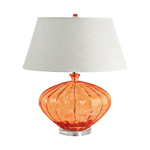 Lamp Works LAM-209 Recycled Glass Collection Orange Finish Table Lamp