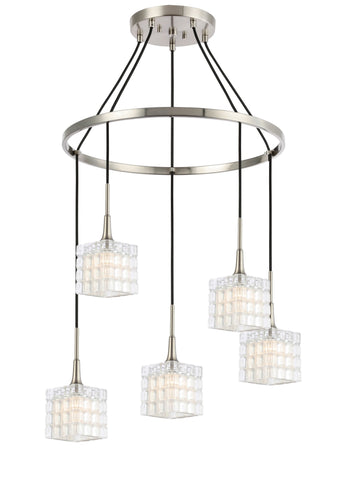 Woodbridge Lighting 21128STN-C80415 Regent Park 5-light Pendant Chandelier