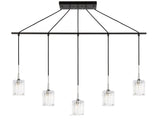 Woodbridge Lighting 21129CHZ-C10490 Regent Park 5-light Linear Pendant
