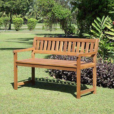 Linon 21160T36-01-KD-U Catalan Bench - Teak Finish