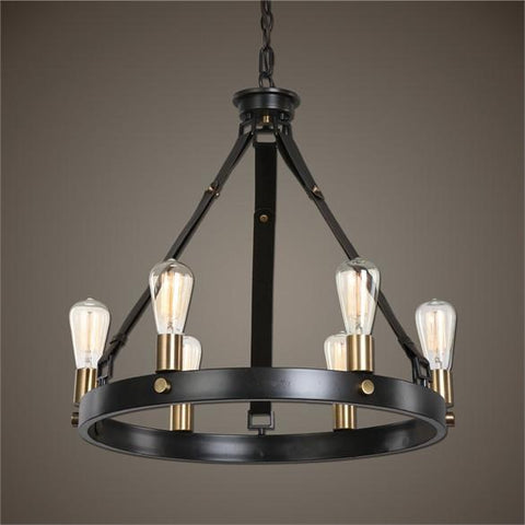 Uttermost Marlow 6 Light Antique Bronze Chandelier (21273) - UTMDirect