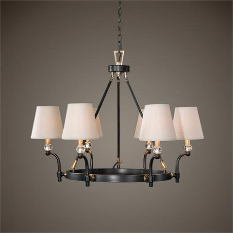 Uttermost Circolo Oil Rubbed Bronze 6 Light Chandelier (21275) - UTMDirect