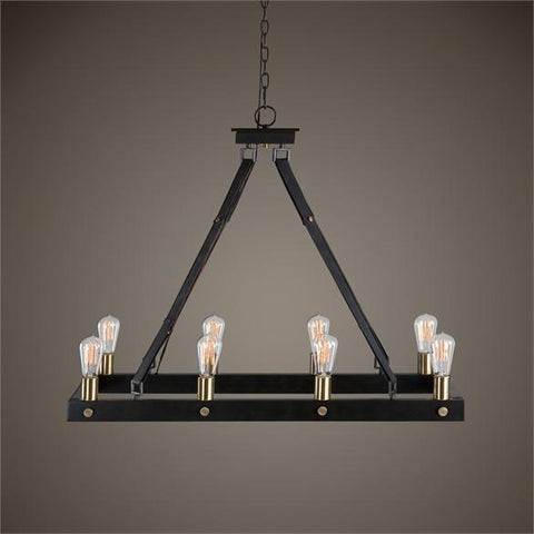 Uttermost Marlow 8 Light Rectangle Chandelier (21279) - UTMDirect