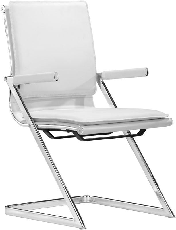 Chair Plus Conference Chair Color White Chromed Steel Lider Photo