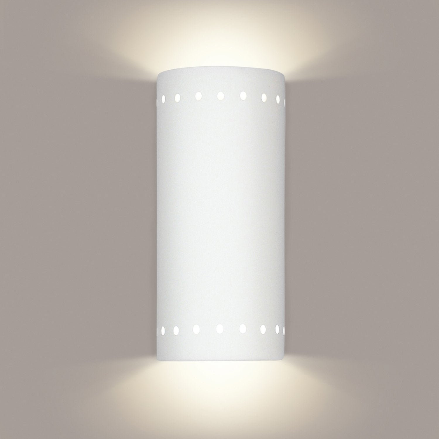 A19 216-WET-LEDGU24-A11 Islands of Light Collection Kythnos Fog Finish Wall Sconce