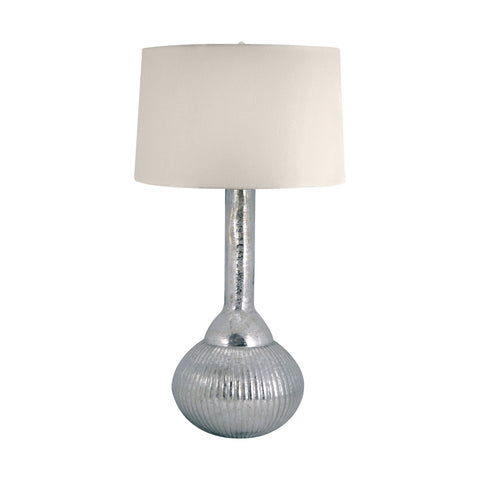 Lamp Works LAM-217 Mercury Glass Collection Silver Finish Table Lamp