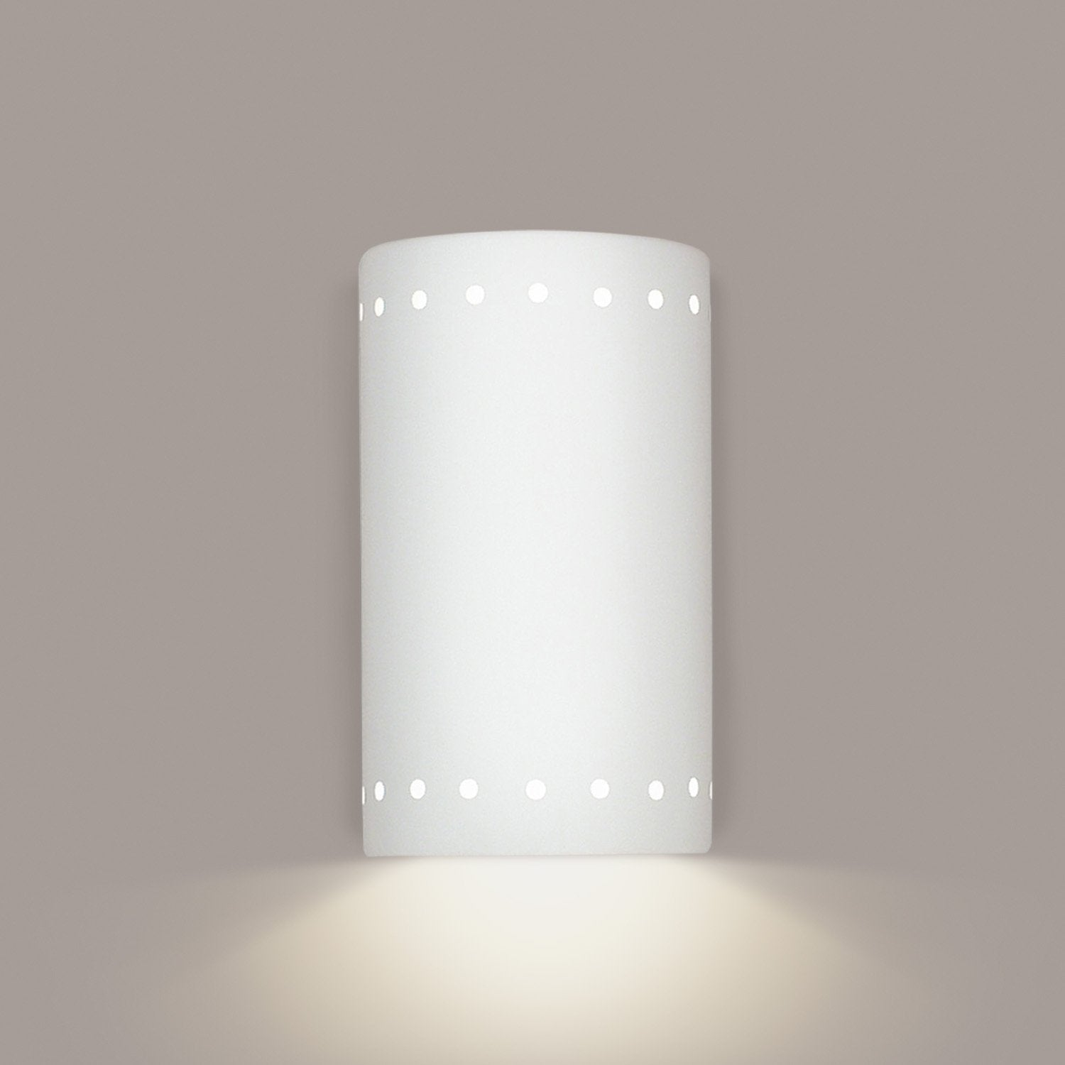 A19 219-WET-WG Islands of Light Collection Delos White Gloss Finish Wall Sconce