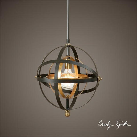 Uttermost Rondure 1 Light Sphere Mini Pendant (22039) - UTMDirect