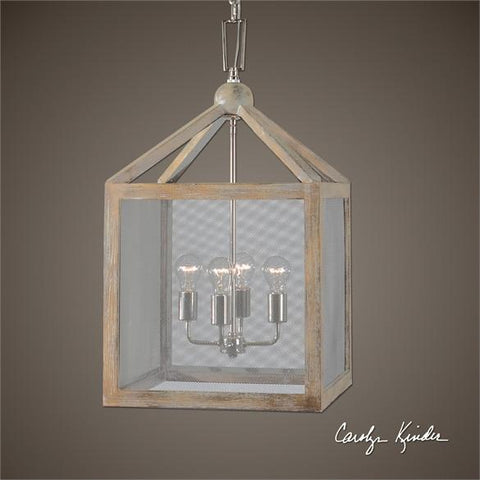 Uttermost Nashua 4 Light Wooden Lantern Pendant (22050) - UTMDirect
