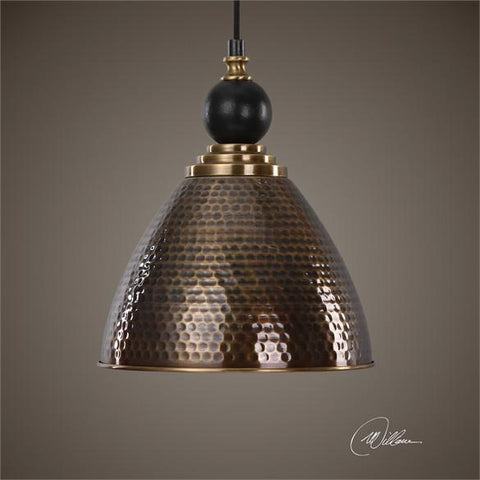 Uttermost Adastra 1 Light Antique Brass Pendant (22052) - UTMDirect
