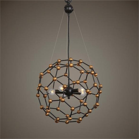 Uttermost Molecule 5 Light Oil Rubbed Bronze Pendant (22058) - UTMDirect
