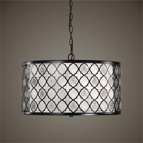 Uttermost Filigree 3 Light Drum Pendant (22062) - UTMDirect