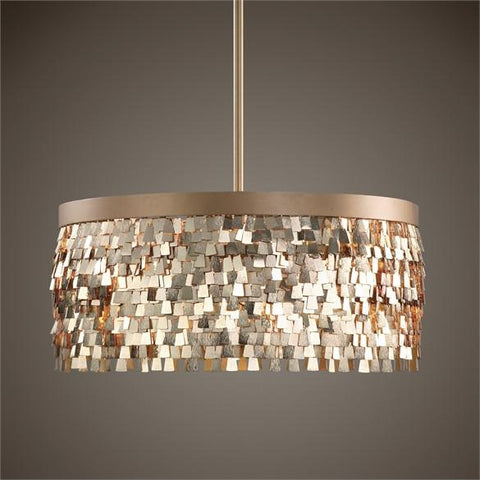 Uttermost Tillie 3 Light Textured Gold Pendant (22064) - UTMDirect