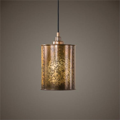 Uttermost Wolcott 1 Light Golden Mini Pendant (22065) - UTMDirect