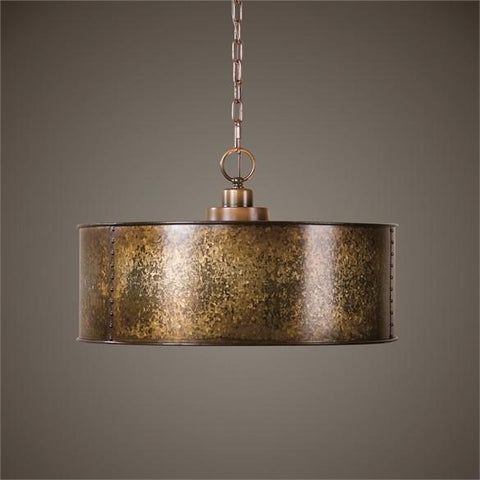Uttermost Wolcott 3 Light Golden Pendant (22066) - UTMDirect