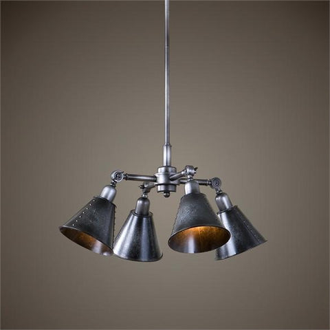 Uttermost Fumant 4 Light Industrial Pendant (22075) - UTMDirect
