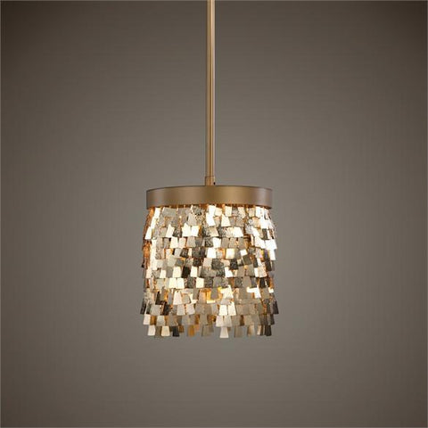 Uttermost Tillie 1 Light Gold Mini Pendant (22077) - UTMDirect