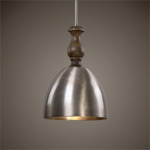 Uttermost Luna 1 Light Aluminum Mini Pendant (22078) - UTMDirect