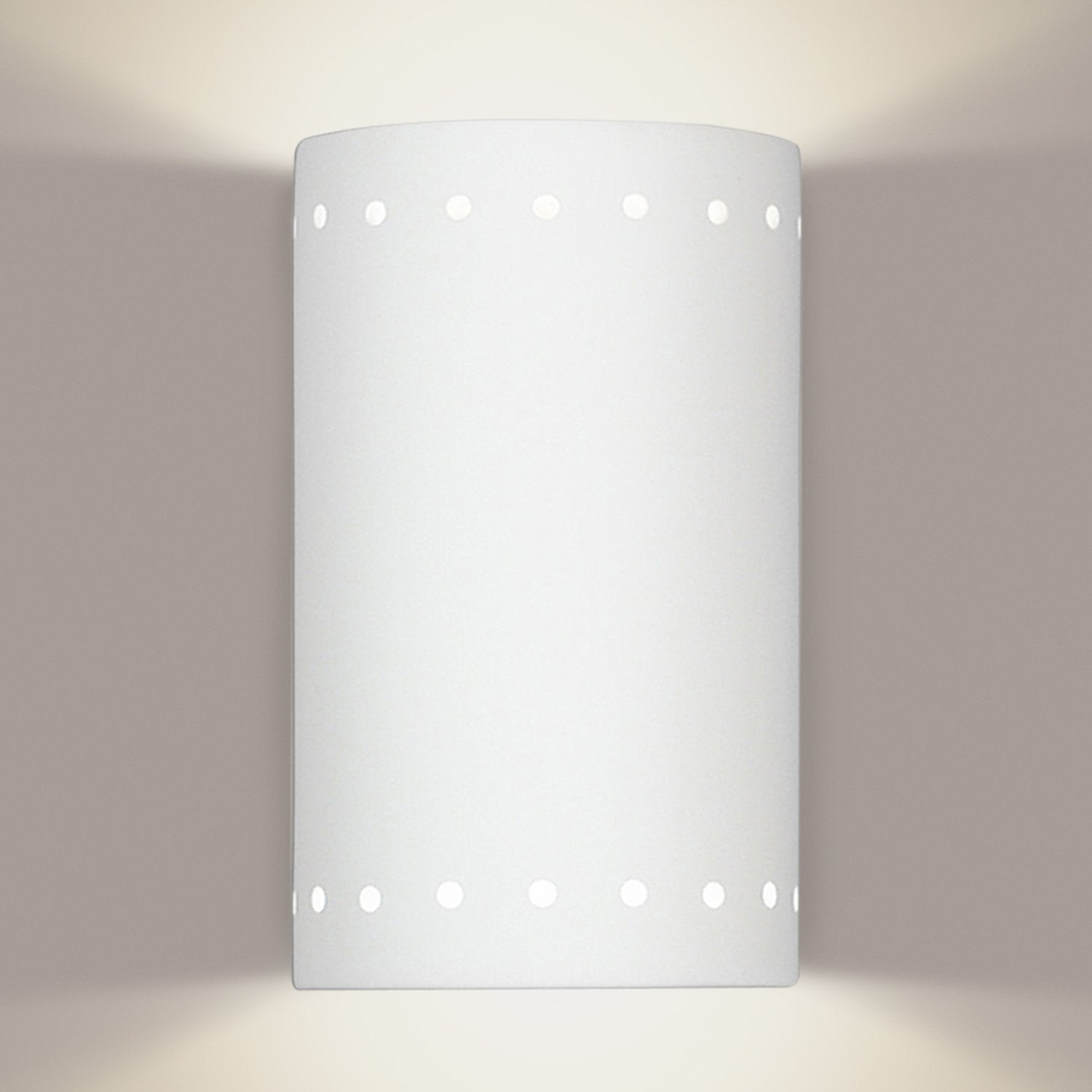 A19 220-WET-LEDGU24-MB2 Islands of Light Collection Melos Zinc White Marble Finish Wall Sconce