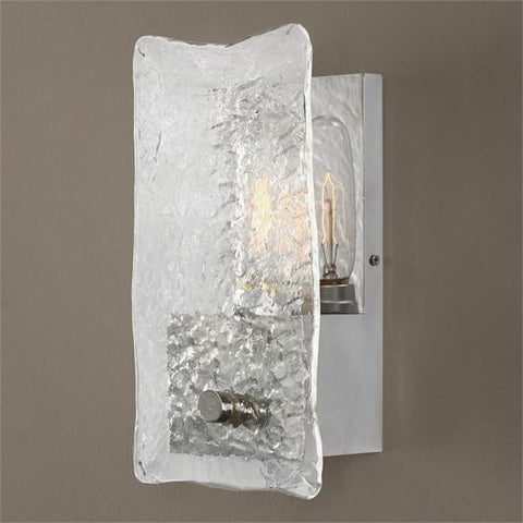 Uttermost Cheminee 1 Light Textured Glass Sconce (22498) - UTMDirect