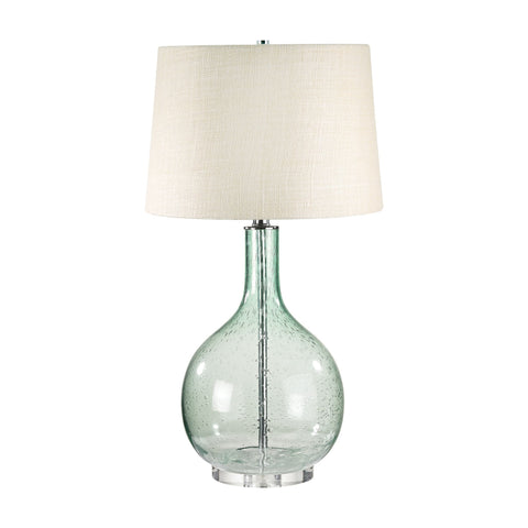 Lamp Works LAM-230G Glass Collection Green Finish Table Lamp