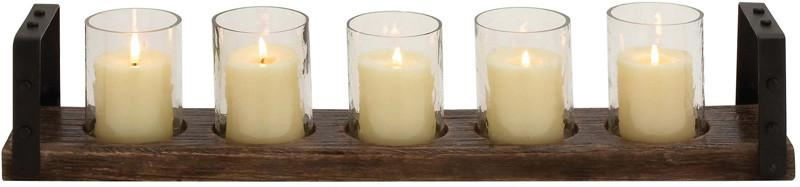 Candle | Holder | Metal | Glass | Hill | Wood