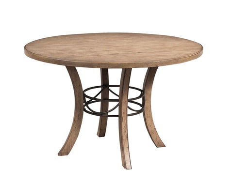 Hillsdale 4670DTBW Charleston Round Wood Table w/Metal Ring